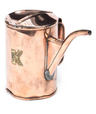 A J.Kaye & Sons copper priming kettle,