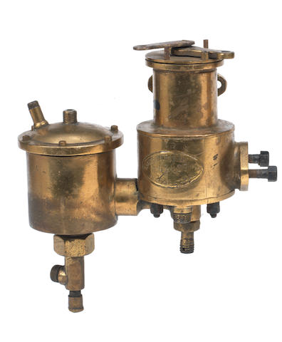 A large bronze Longuemare carburettor, French,