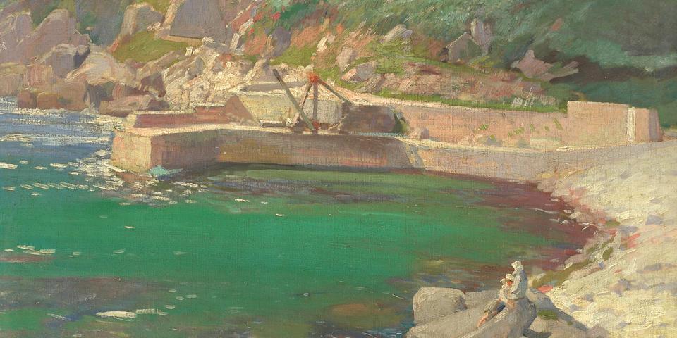 Samuel John Lamorna Birch, RA, RWS, RWA (British, 1869-1955) Lamorna Cove, oil on canvas