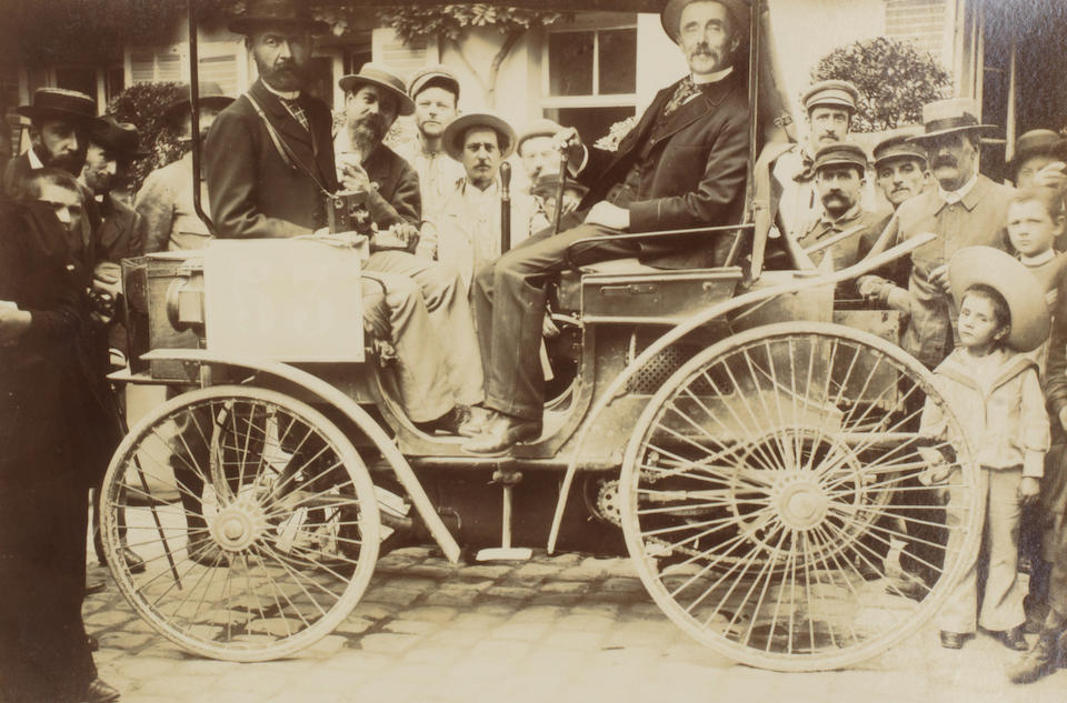 """An album of rare and early photographs of the 1894 Paris-Rouen 'Le Petit Journal' Concours, """"the first competitive motor race"""","""