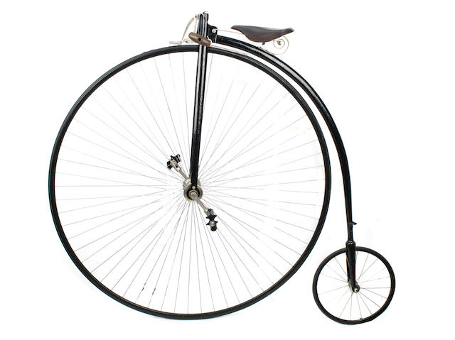 A 52 inch Ordinary bicycle, circa 1885,