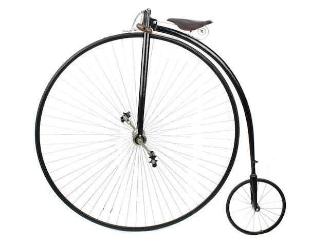 A 52 inch Ordinary bicycle, circa 1885,