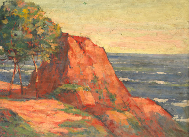 Armand Guillaumin (1841-1927), Les roches rouges à Agay, Oil on canvas, 48.6 x 65.6 cm, 1914