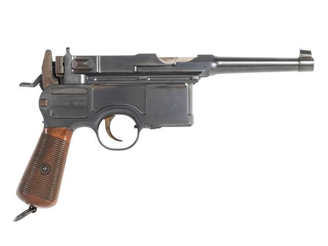 An extremely rare 7.63mm 'Model 1902 Gelenksicherung' C96  self-loading pistol by Mauser, no. 40157