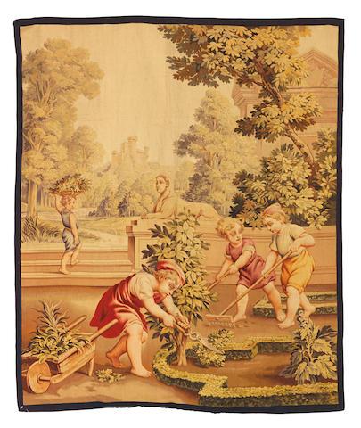 An 18th Century Flemish Tapestry Panel           133cm x 162cm