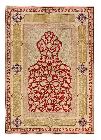 A Hereke silk rug                                                     West Anatolia, 190cm x 141cm