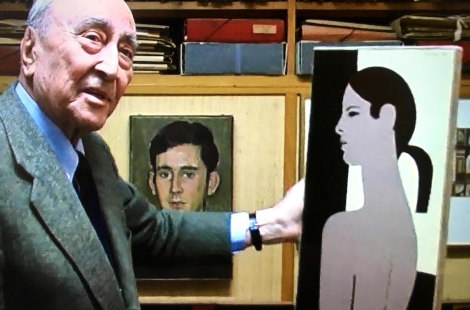 Yiannis Moralis (Greek, 1916-2009) Back Profile 56 x 27 cm.