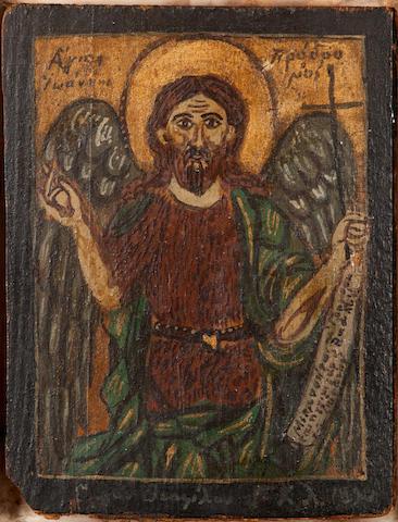 Theofilos Hadjimichael (Greek, 1871-1934) Saint John  16.3 x 12.5 cm.