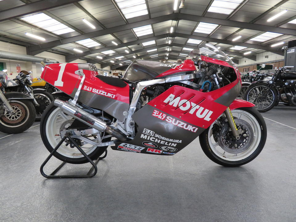 Winner of the All Japan TT Formula 1 Championship,1986 Yoshimura Suzuki GSX-R750 Racing Motorcycle