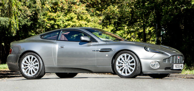 First owned by Aston Martin CEO, Dr Ulrich Bez,2001 Aston Martin V12 Vanquish Coupé Chassis no. SCFAC13351B500007