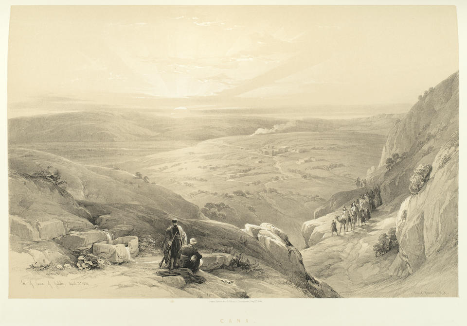 ROBERTS (DAVID) The Holy Land, Syria, Idumea, Arabia, Egypt & Nubia From Drawings Made on the Spot by David Roberts, With Historical Descriptions by the Revd George Croly, 6 vol. bound in 4, FIRST EDITION, F.G. Moon, 1842-1849