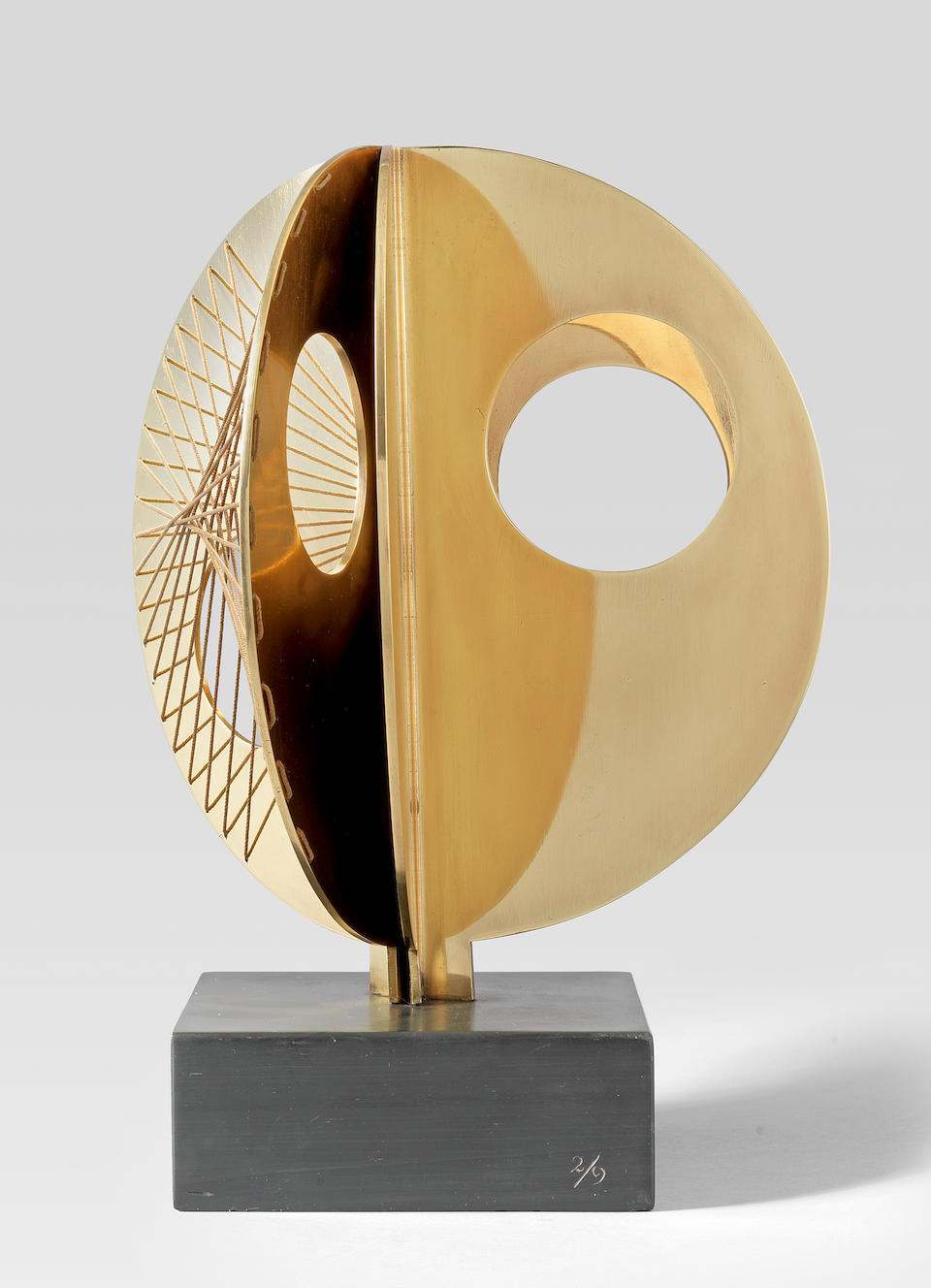 Dame Barbara Hepworth (British, 1903-1975) Mincarlo 34.2 cm. (13 1/2 in.) high (including the base) Conceived and cast in 1971 (This work is recorded as BH 526)