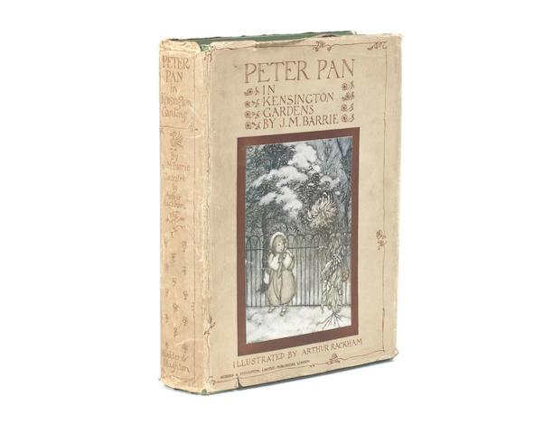RACKHAM (ARTHUR) BARRIE (J.M.) Peter Pan in Kensington Gardens... New Edition, Hodder & Stoughton, [1912]