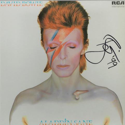 David Bowie: An autographed Aladdin Sane album cover,