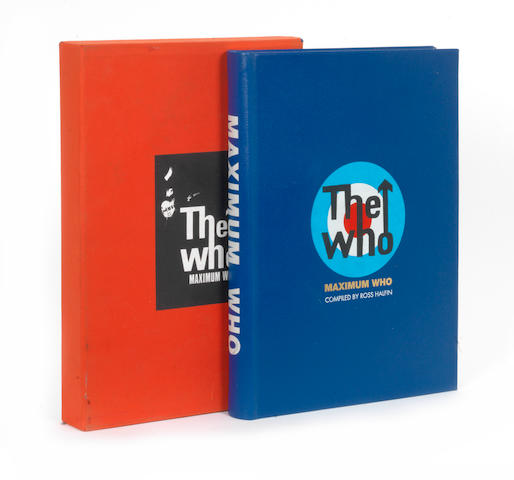 The Who: an autographed copy of 'Maximum Who' by Ross Halfin and Roger Daltrey, Genesis Publications, 2002,