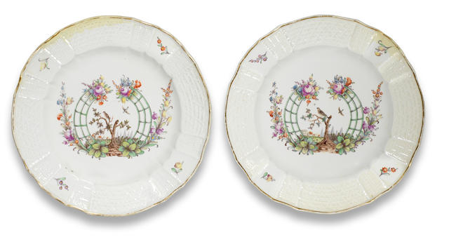 Two Nymphenburg plates Circa 1765-70