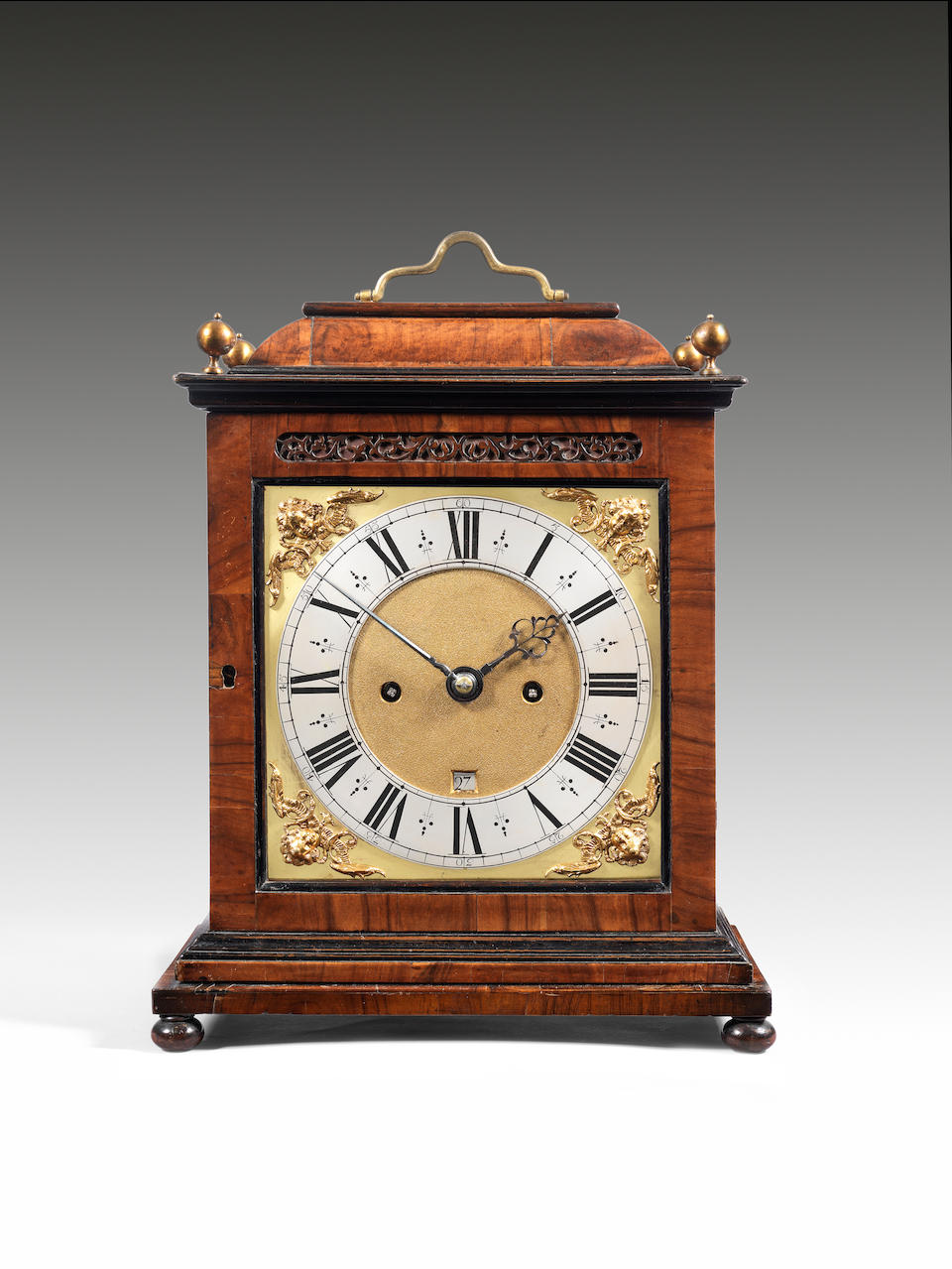 A very fine and rare late 17th century olivewood turntable clock Nathaniel Barrow, London, c 1675.