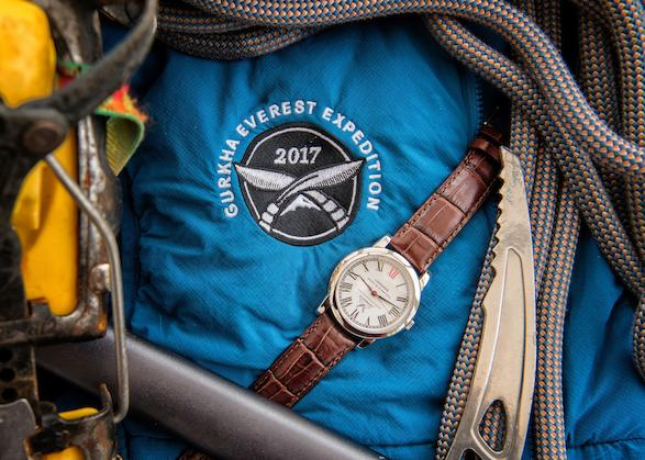 News: British built Loomes Everest hand-made Gurkha watch to be offered at Bonhams   Gurkha Flag recovered atfter 2015 Earth quake will form part of the lot