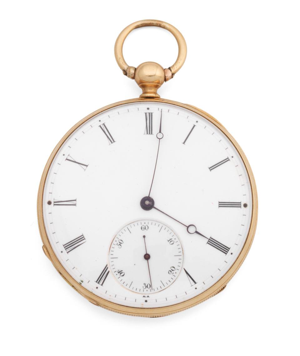 Czapek i Spólka, W Genewie. An 18K gold key wind open face pocket watch Circa 1830