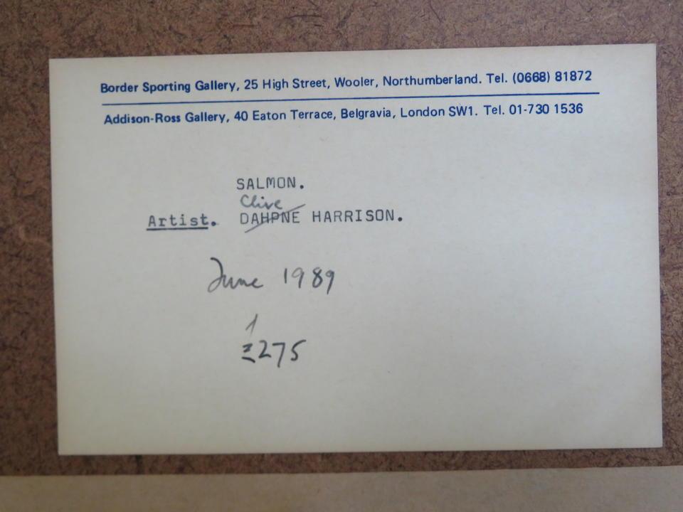 * Harrison (20th Century) Salmon 30 x 66 cm. (11 13/16 x 26 in.)