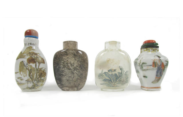 A collection of four snuff bottles 19th and 20th century (6)
