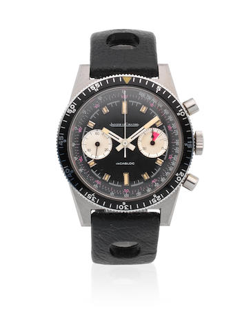 Jaeger-LeCoultre. A stainless steel manual wind military style chronograph wristwatch Ref: 0 2613, Circa 1950