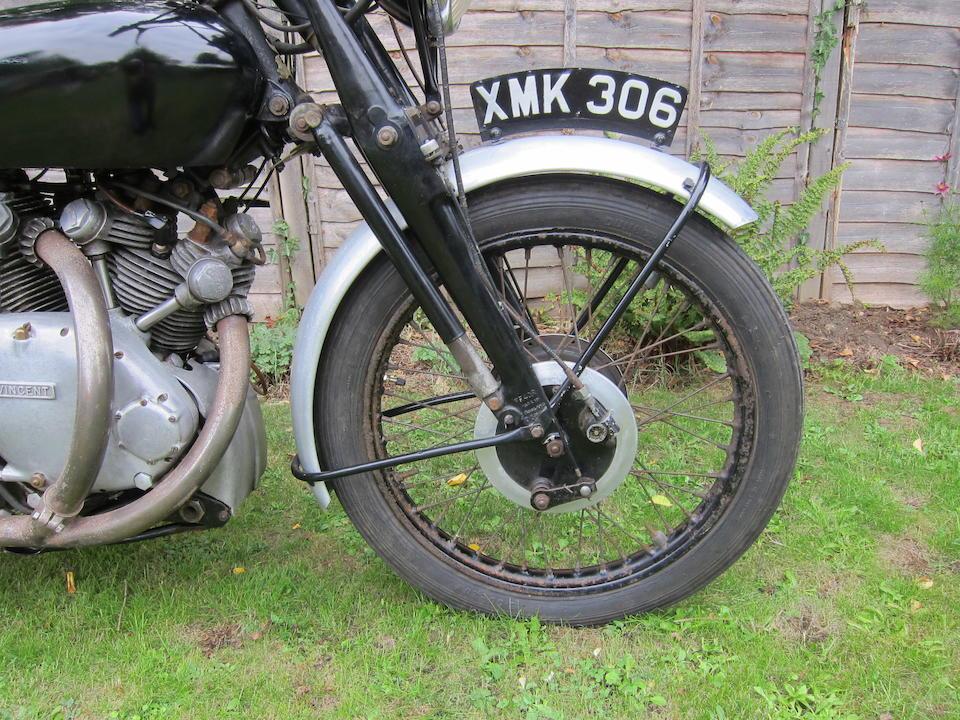 1952 Vincent 998cc Rapide Series C Frame no. RC10911/C  Engine no. F10AB/1/9011 Crankcase Mating nos. C97C / C97C