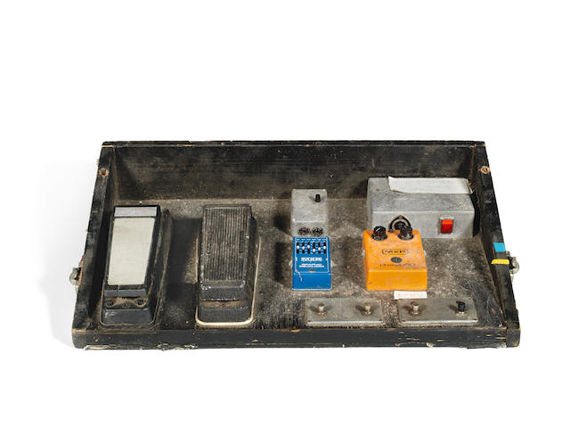 Ken (K.K.) Downing/Judas Priest: A guitar pedal board,  1970s/80s,