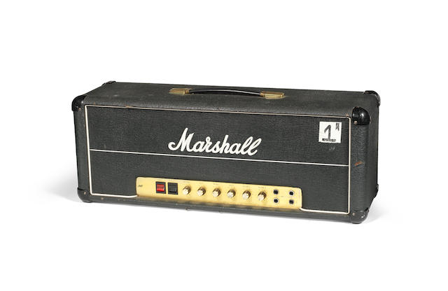 Ken (K.K.) Downing/Judas Priest: A Marshall amplifier 50 watt Lead amplifier, ('Amp No.1'), 1978,