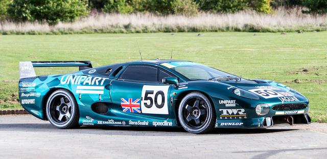 The Ex-David Coulthard/David Brabham/John Nielsen Le Mans 24-Hour race, GT class-winning, 1993 Jaguar XJ220C COMPETITION COUPE