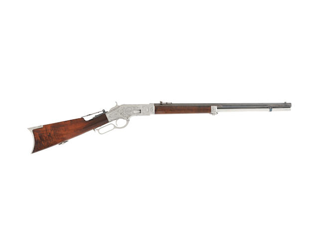 An exceptional Ulrich engraved .44 (R.F.) 'Model 1866' lever-action rifle by Winchester, no. 109544 (circa 1873)