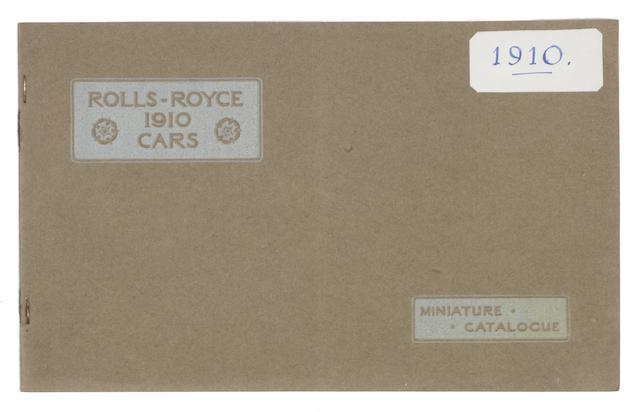 A Rolls-Royce Cars 1910 Miniature catalogue,