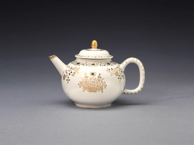 An important early Meissen teapot and cover, circa 1713-15