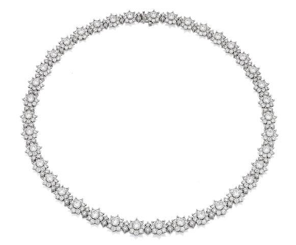 A diamond 'Sunflower' necklace, by Harry Winston