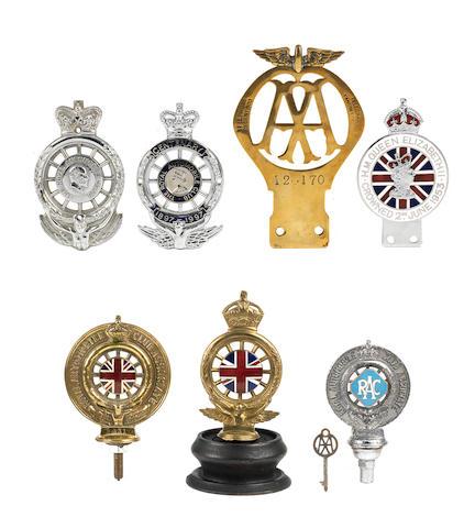 Assorted mainly Royal Automobile Club car badges,   ((8))