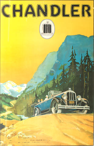 'The Mark of a Fine Car' Chandler advertising poster, American, 1920s,