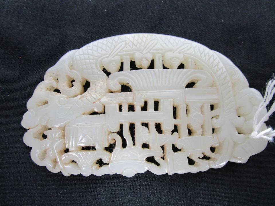 Three decorative jade carvings (3)