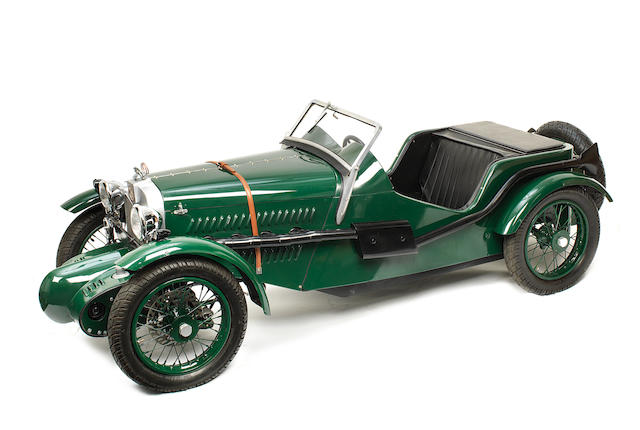 A scale model of a 1933 MG J2J4 constructed as a working child's car,