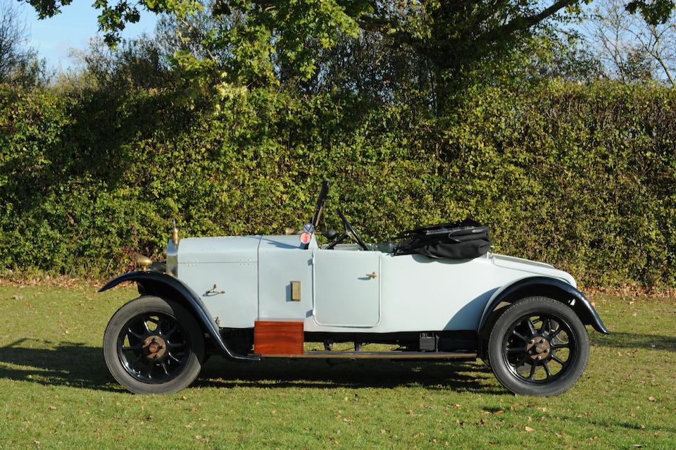 1924 Wolseley 11/22hp Drophead Coupé with Dickey  Chassis no. 786A 2755