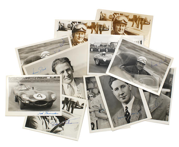 Eight signed photographs of race drivers,  ((11))
