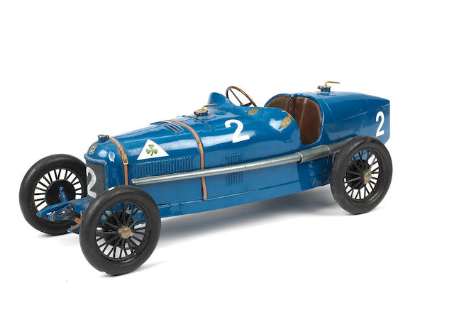 A rare clockwork tinplate model of an Alfa Romeo P2, by CIJ, French, mid 1920s,