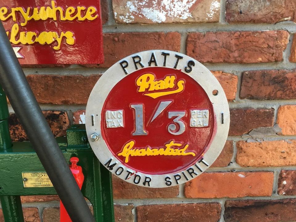 A Wayne hand-cranked petrol pump,