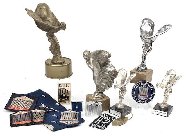 Assorted Rolls-Royce badges and mascots,   ((Qty))