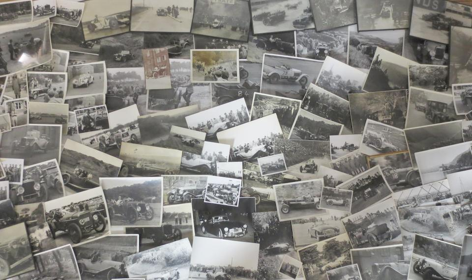 A collection of assorted motoring photographs including several signed examples,   ((Qty))
