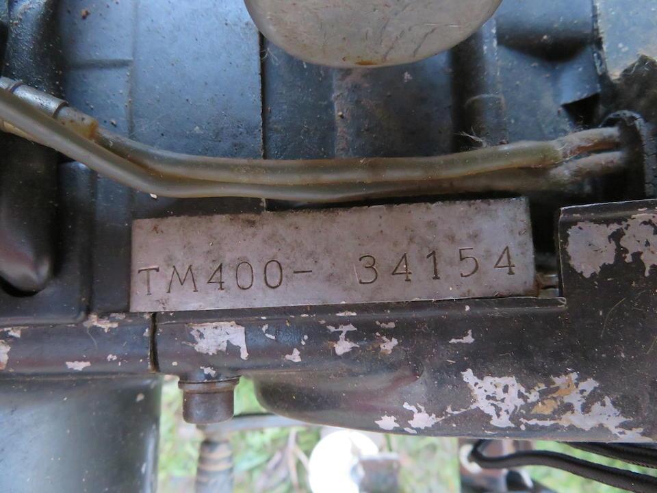 1974 Suzuki 396cc TM400L Cyclone Frame no. TM400-34287 Engine no. TM400-34154