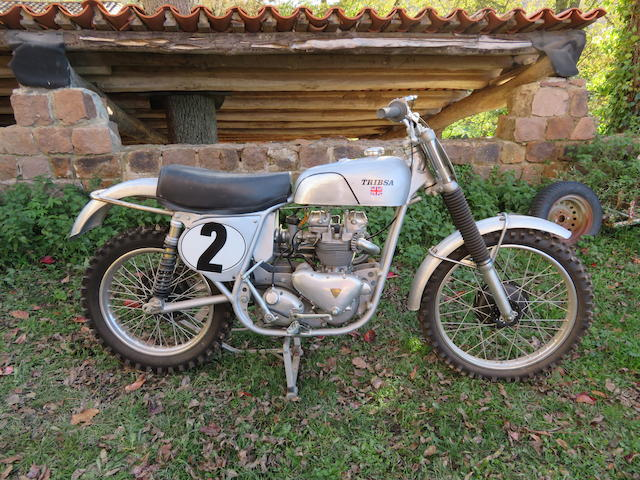 1954/1957 TRI-BSA 498cc Motocross Frame no. CA7 5832 Engine no. T100 09637