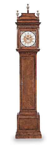 A first half of the 18th century walnut longcase clock  George Graham, London, number 670