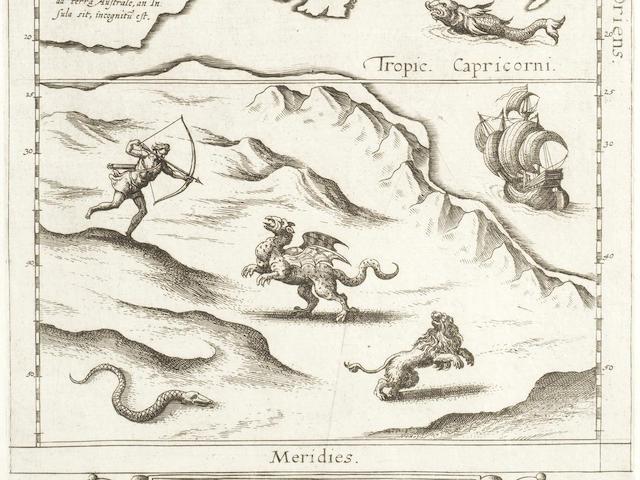 AUSTRALIA DE JODE (CORNELIS)  Novae Guineae forma, & situs, [Antwerp, 1593]