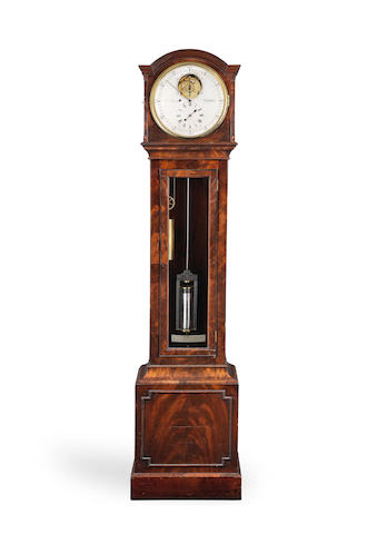 The Daniels/Elsom regulator.  A unique and important 19th century floorstanding eight-day regulator with converted grasshopper escapement by George Daniels The donor clock by Edward Boucly, the escapement personally made by George Daniels for his friend Cecil Elsom circa 1965.