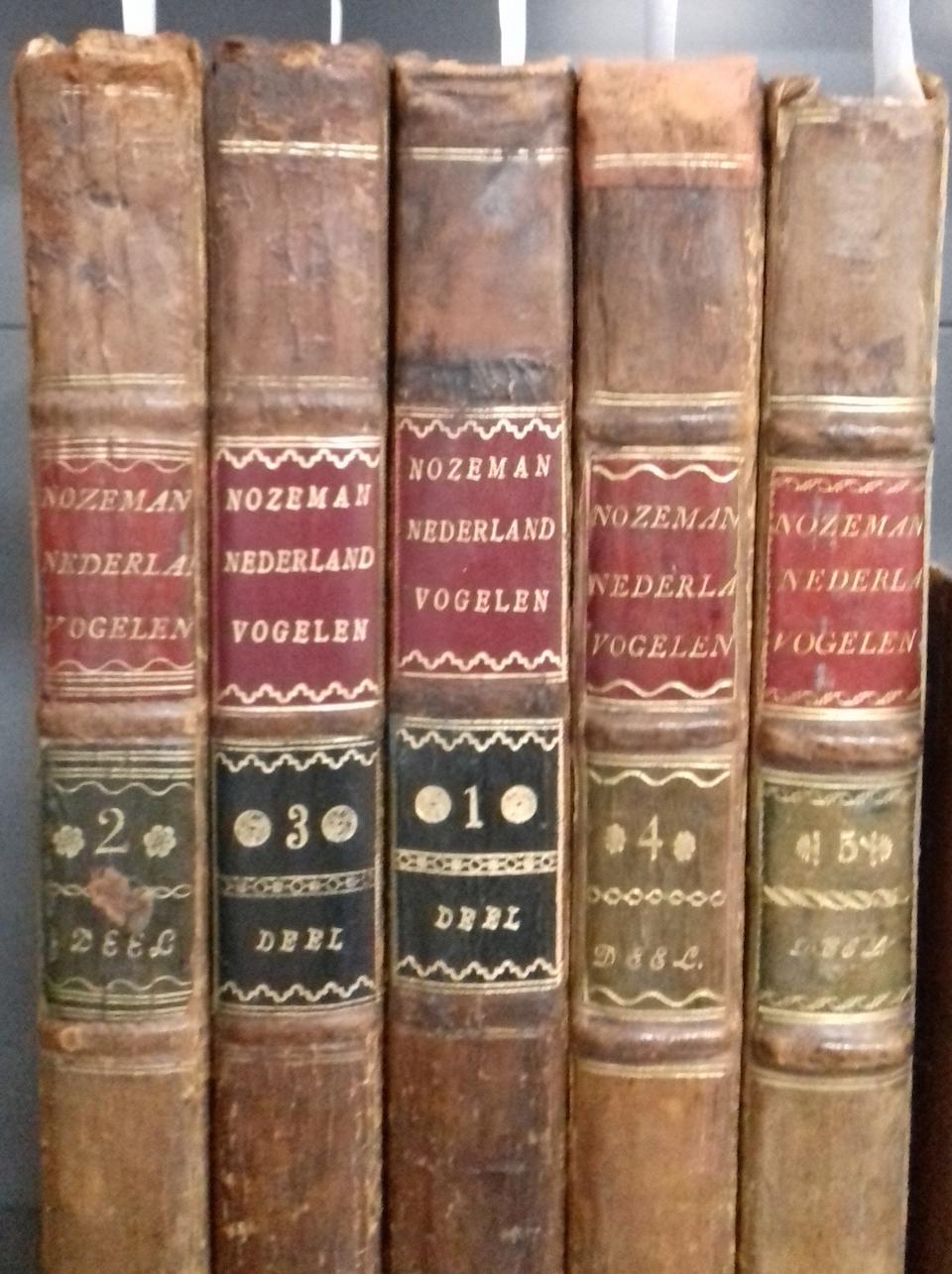NOZEMAN (CORNELIUS) Nederlandsche Vogelen, 5 vol., FIRST EDITION, Amsterdam, Jan Christiaan Sepp, 1770-1829